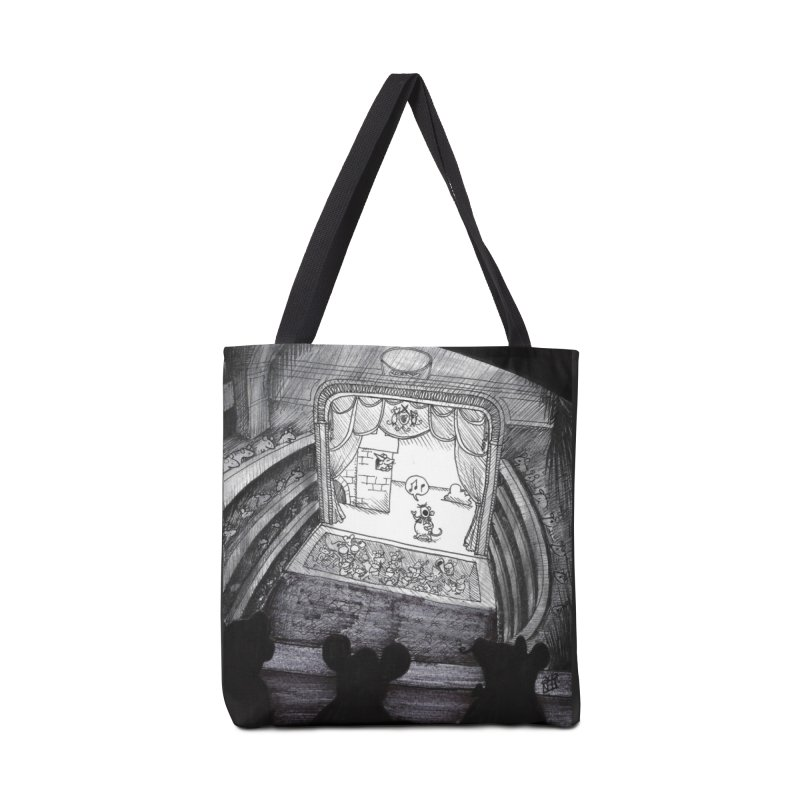 Mouse Opera Accessories Tote Bag Bag by DEROSNEC's Art Shop