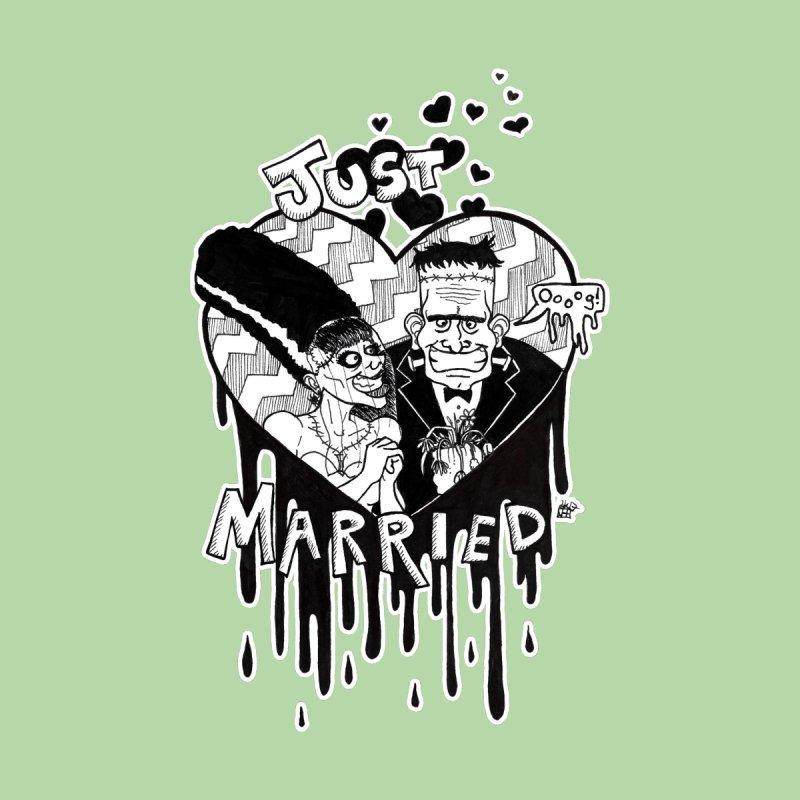 Just Married Home Shower Curtain by DEROSNEC's Art Shop