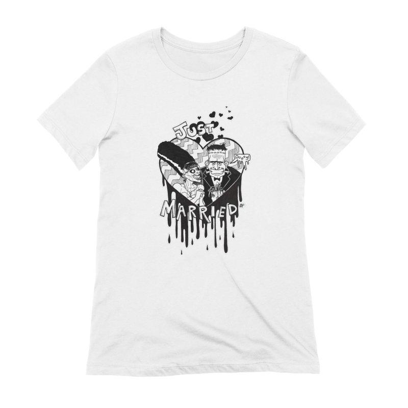 Just Married Women's Extra Soft T-Shirt by DEROSNEC's Art Shop