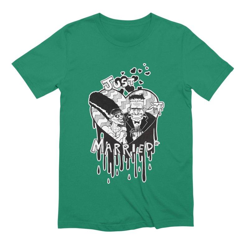 Just Married Men's Extra Soft T-Shirt by DEROSNEC's Art Shop