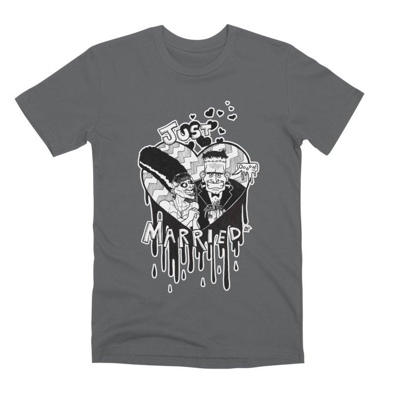 Just Married Men's Premium T-Shirt by DEROSNEC's Art Shop