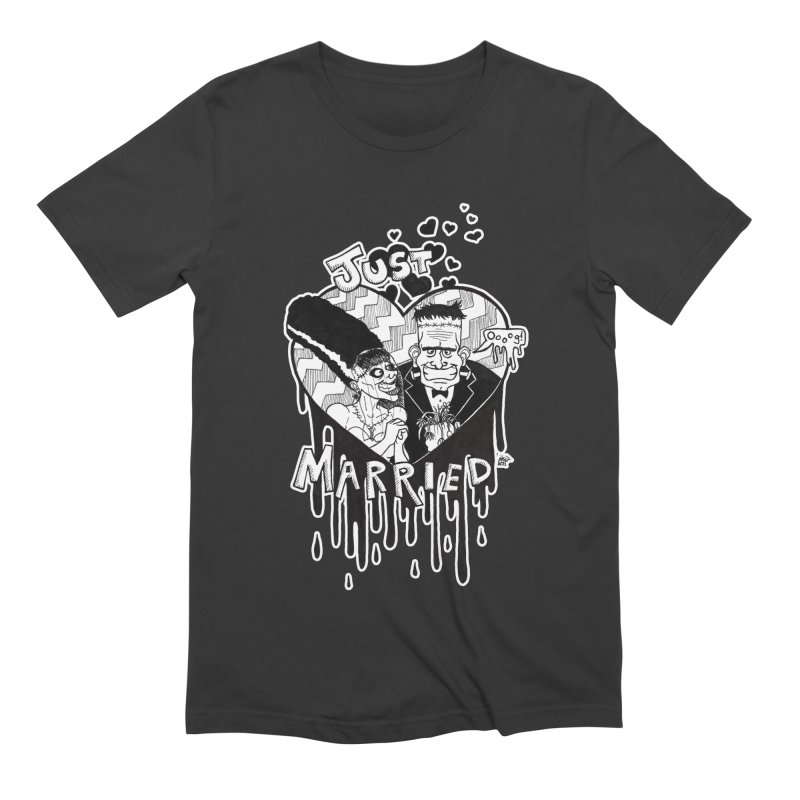Just Married Men's Extra Soft T-Shirt by DEROSNEC's Art Shop
