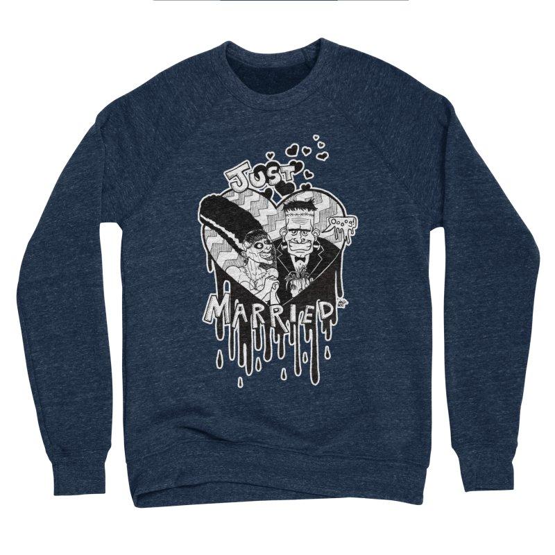 Just Married Men's Sponge Fleece Sweatshirt by DEROSNEC's Art Shop