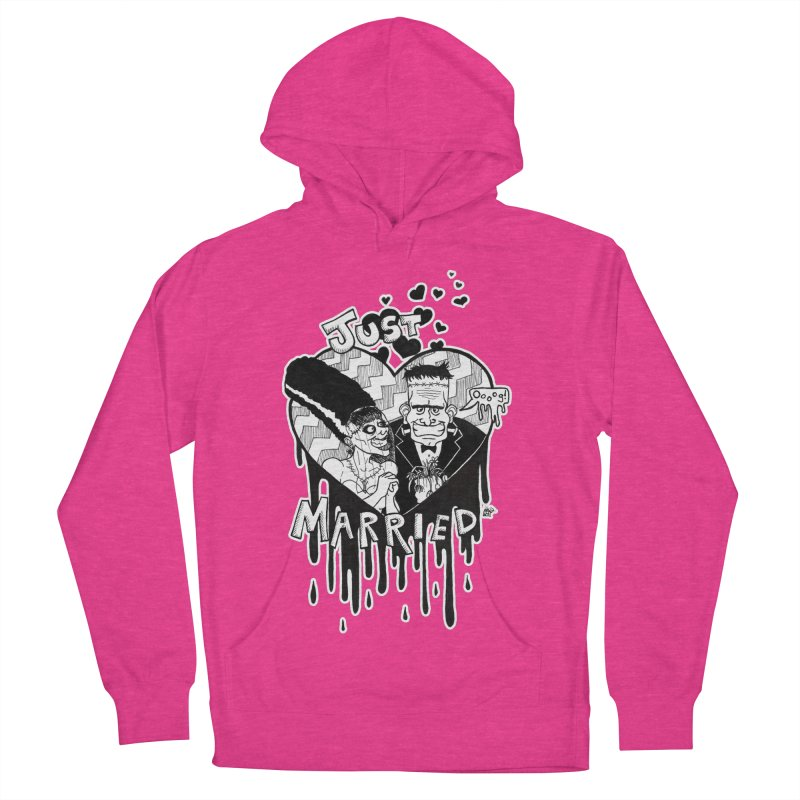 Just Married Women's French Terry Pullover Hoody by DEROSNEC's Art Shop