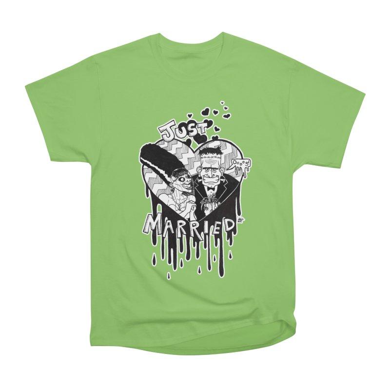 Just Married Women's Heavyweight Unisex T-Shirt by DEROSNEC's Art Shop