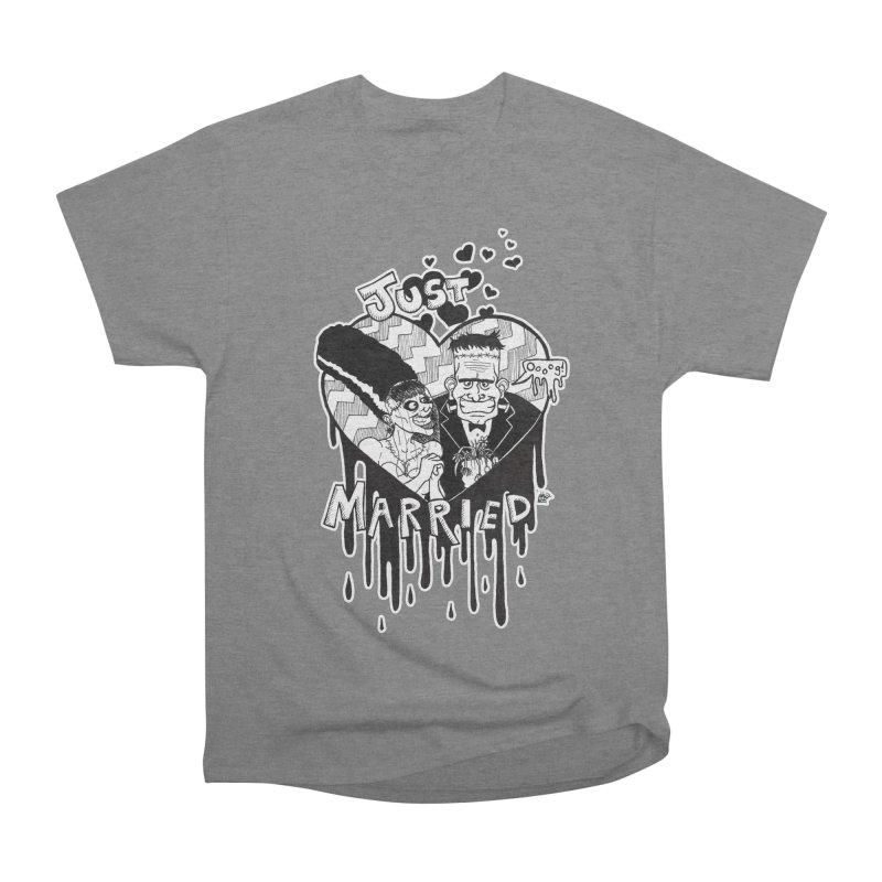 Just Married Men's Heavyweight T-Shirt by DEROSNEC's Art Shop