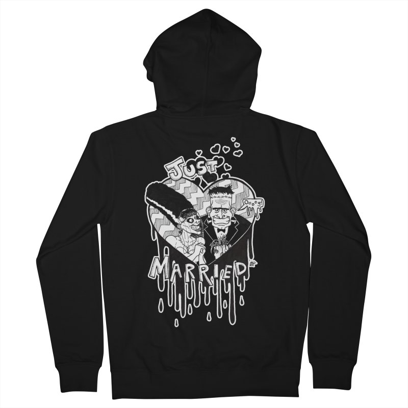 Just Married Women's French Terry Zip-Up Hoody by DEROSNEC's Art Shop