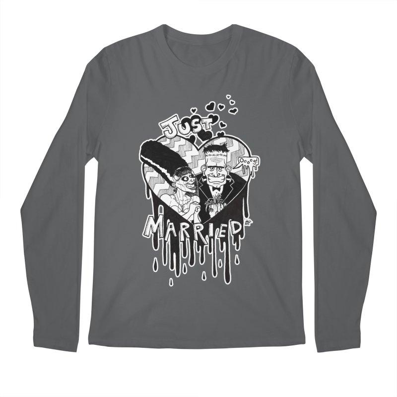 Just Married Men's Regular Longsleeve T-Shirt by DEROSNEC's Art Shop