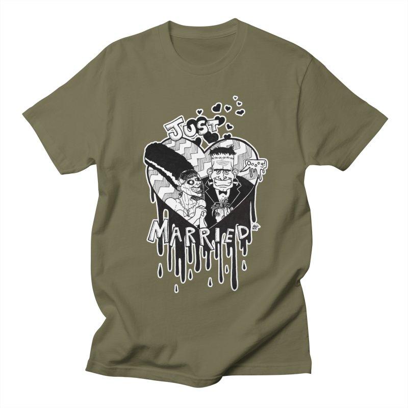 Just Married Women's Regular Unisex T-Shirt by DEROSNEC's Art Shop