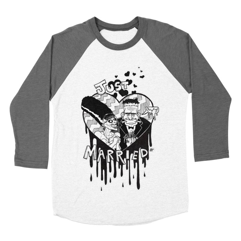 Just Married Women's Baseball Triblend Longsleeve T-Shirt by DEROSNEC's Art Shop