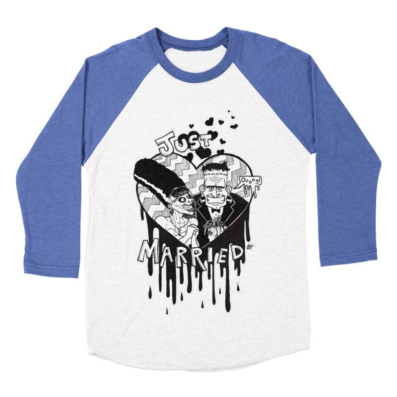 Just Married Men's Baseball Triblend Longsleeve T-Shirt by DEROSNEC's Art Shop
