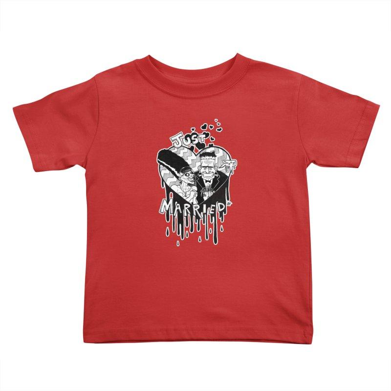 Just Married Kids Toddler T-Shirt by DEROSNEC's Art Shop