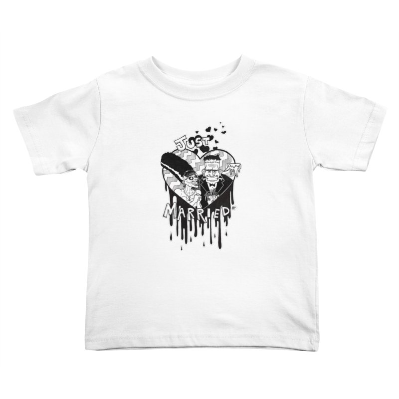 Just Married Kids Toddler T-Shirt by DEROSNEC's Art Shop