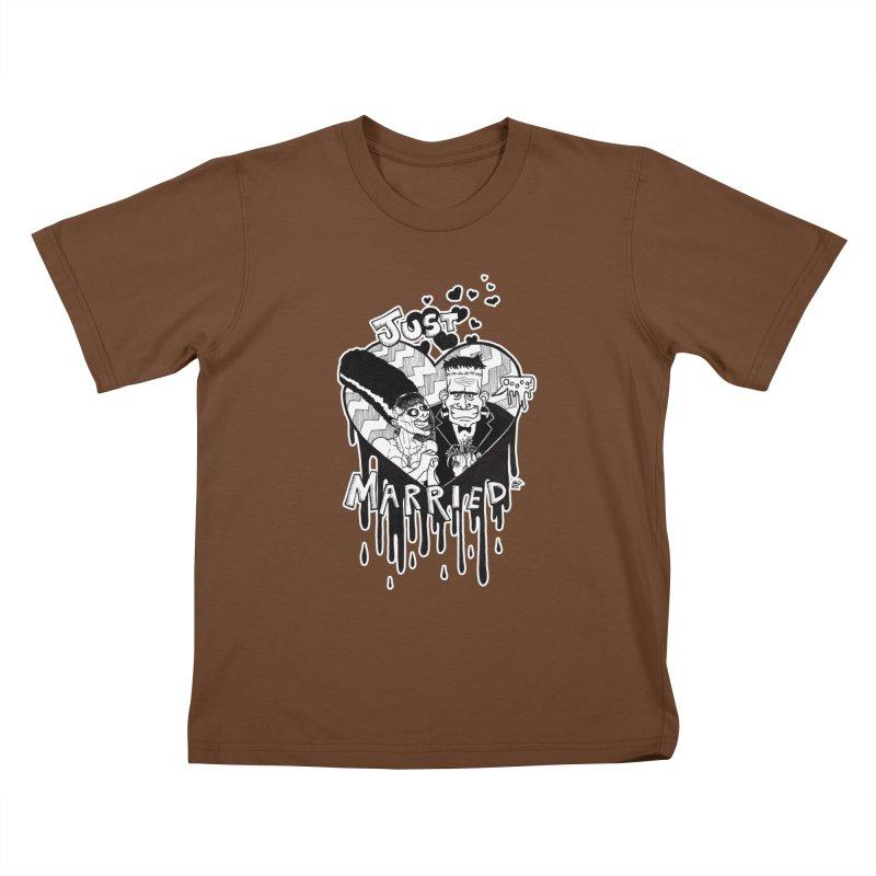 Just Married Kids T-Shirt by DEROSNEC's Art Shop