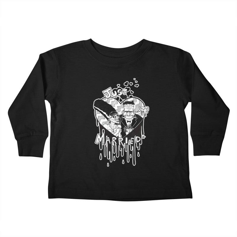 Just Married Kids Toddler Longsleeve T-Shirt by DEROSNEC's Art Shop