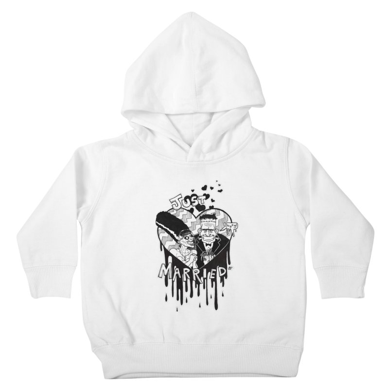 Just Married Kids Toddler Pullover Hoody by DEROSNEC's Art Shop