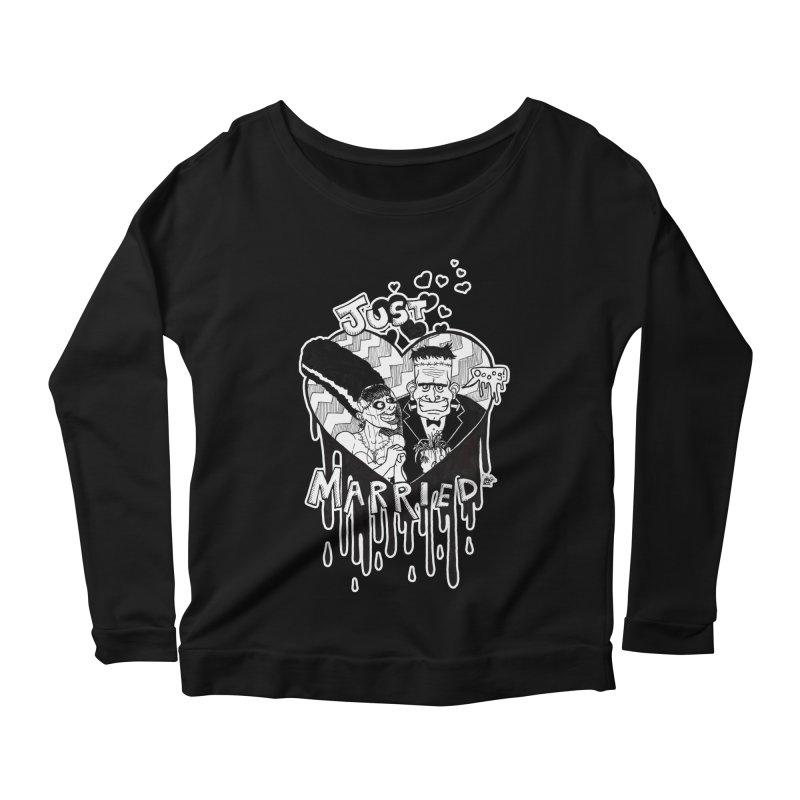 Just Married Women's Scoop Neck Longsleeve T-Shirt by DEROSNEC's Art Shop