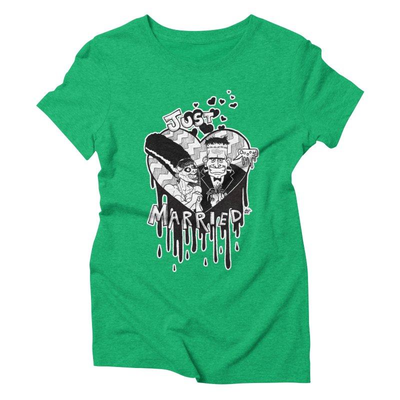 Just Married Women's Triblend T-Shirt by DEROSNEC's Art Shop