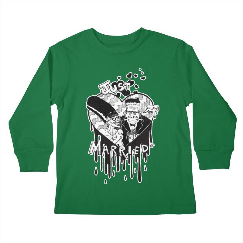 Just Married Kids Longsleeve T-Shirt by DEROSNEC's Art Shop