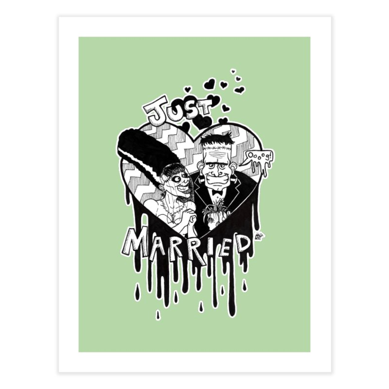 Just Married Home Fine Art Print by DEROSNEC's Art Shop