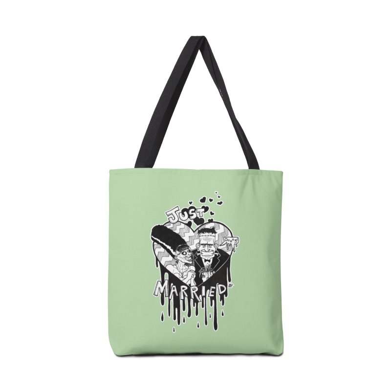 Just Married Accessories Tote Bag Bag by DEROSNEC's Art Shop