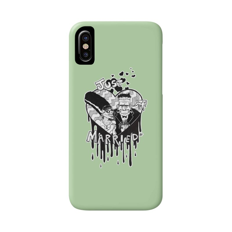 Just Married Accessories Phone Case by DEROSNEC's Art Shop
