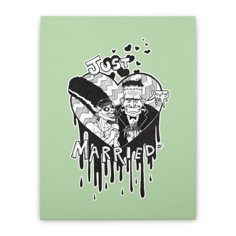 Just Married Home Stretched Canvas by DEROSNEC's Art Shop