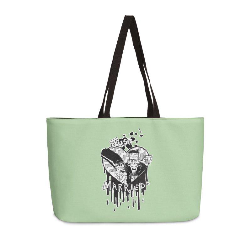 Just Married Accessories Weekender Bag Bag by DEROSNEC's Art Shop