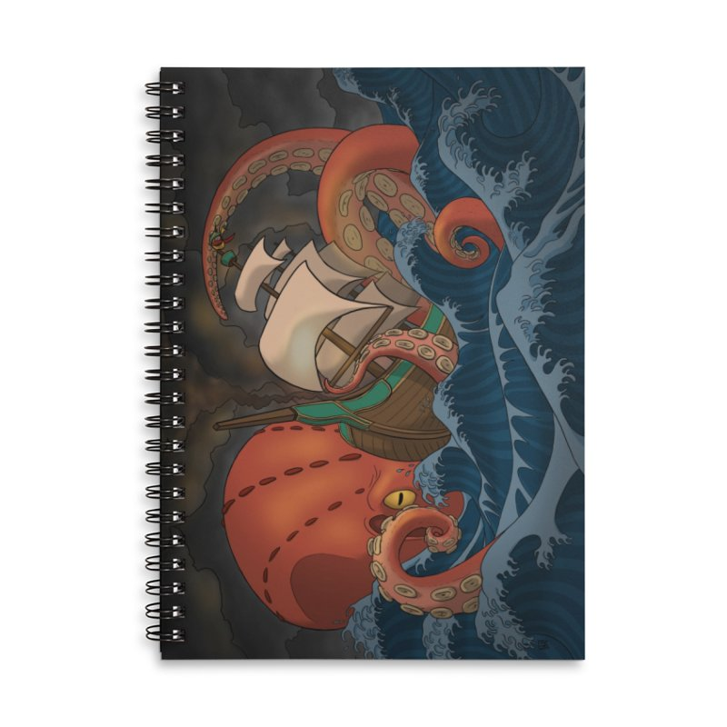 A Beast Arose From the Ocean Accessories Lined Spiral Notebook by DEROSNEC's Art Shop