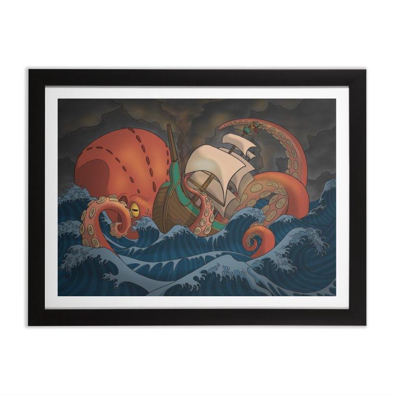 A Beast Arose From the Ocean Home Framed Fine Art Print by DEROSNEC's Art Shop