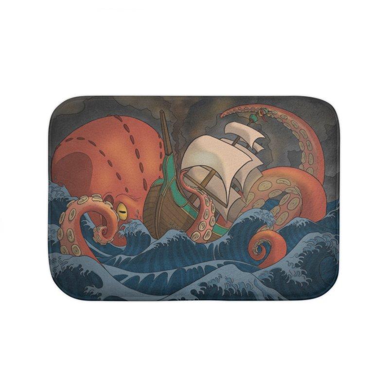 A Beast Arose From the Ocean Home Bath Mat by DEROSNEC's Art Shop