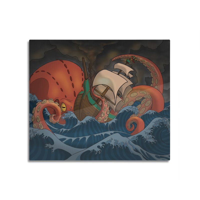 A Beast Arose From the Ocean Home Mounted Acrylic Print by DEROSNEC's Art Shop