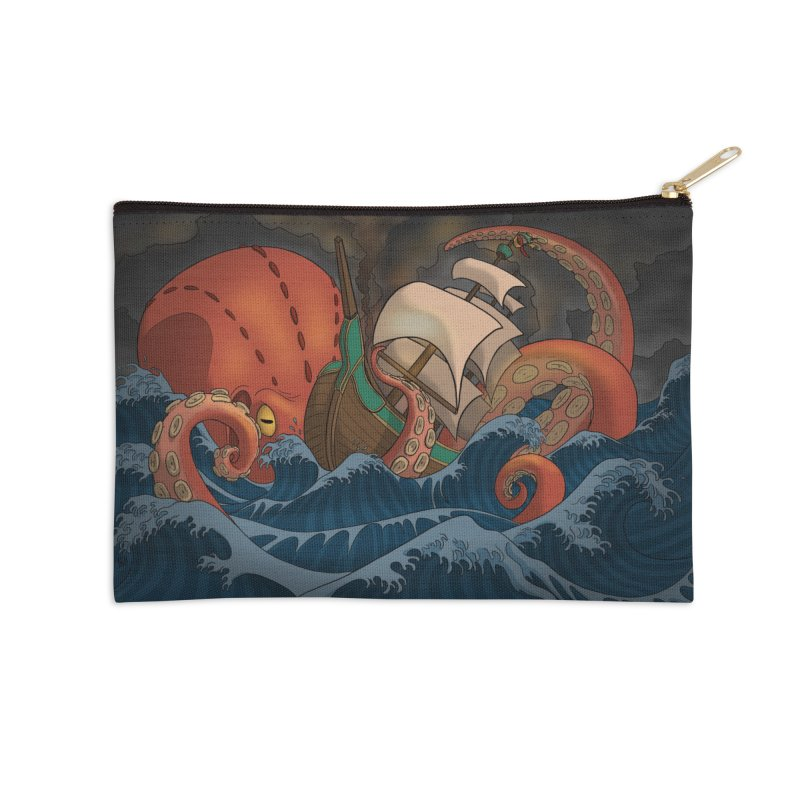 A Beast Arose From the Ocean Accessories Zip Pouch by DEROSNEC's Art Shop