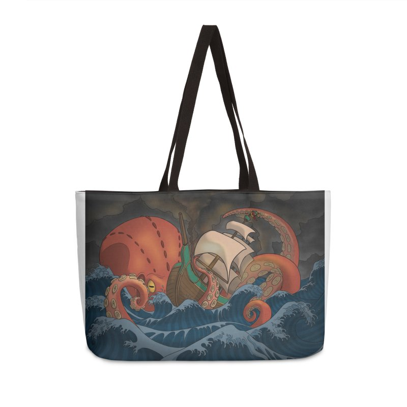 A Beast Arose From the Ocean Accessories Weekender Bag Bag by DEROSNEC's Art Shop