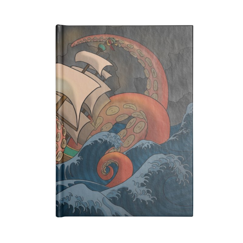 A Beast Arose From the Ocean Accessories Blank Journal Notebook by DEROSNEC's Art Shop