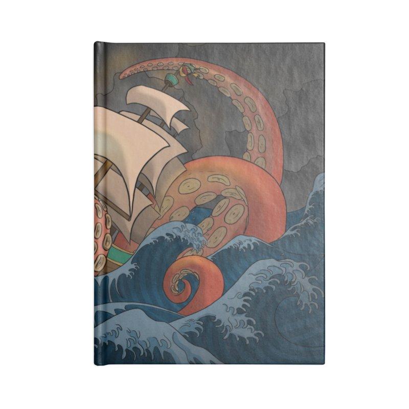 A Beast Arose From the Ocean Accessories Lined Journal Notebook by DEROSNEC's Art Shop