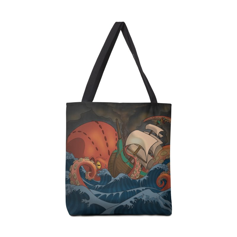 A Beast Arose From the Ocean Accessories Tote Bag Bag by DEROSNEC's Art Shop