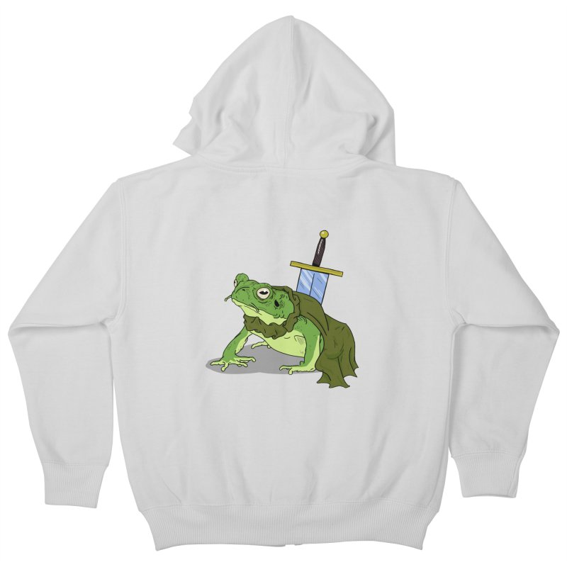 Frog! Kids Zip-Up Hoody by derschwigg's Artist Shop