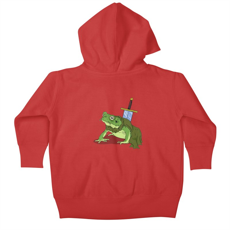 Frog! Kids Baby Zip-Up Hoody by derschwigg's Artist Shop