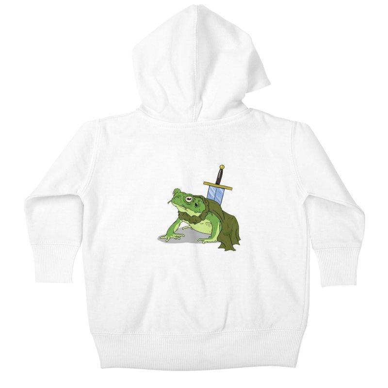 Frog! Kids Baby Zip-Up Hoody by derschwigg's Artist Shop