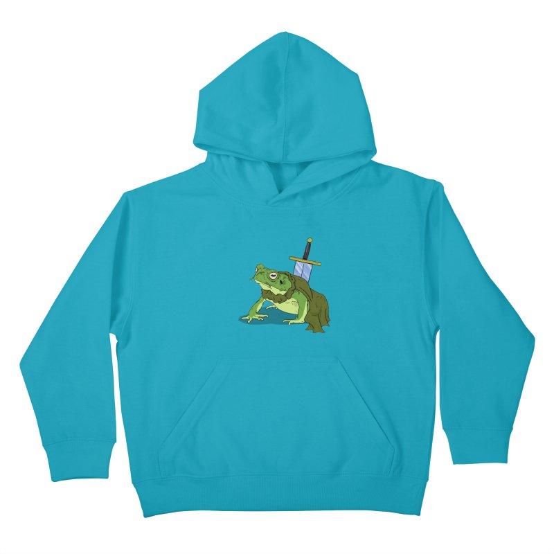 Frog! Kids Pullover Hoody by derschwigg's Artist Shop