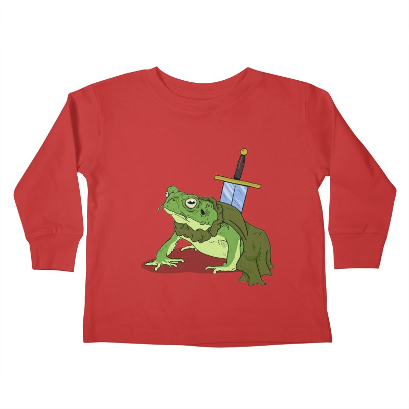 Frog! Kids Toddler Longsleeve T-Shirt by derschwigg's Artist Shop