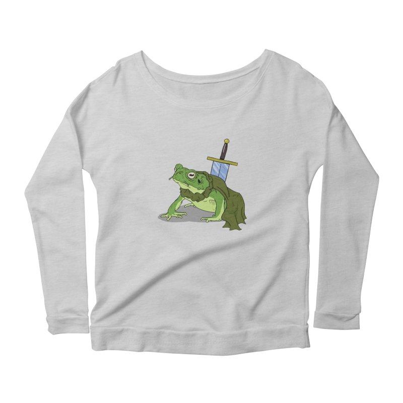 Frog! Women's Longsleeve Scoopneck  by derschwigg's Artist Shop