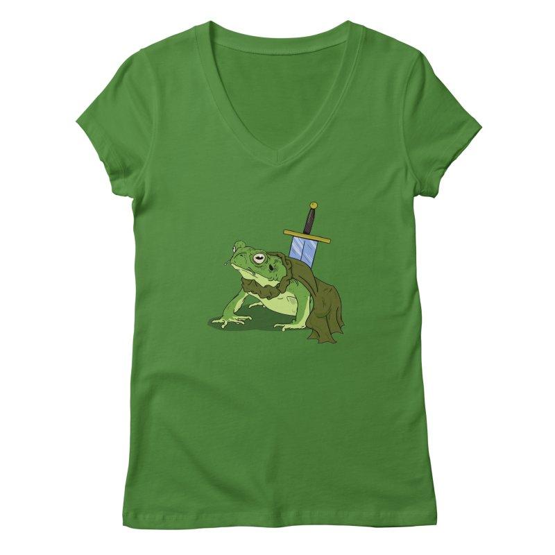 Frog! Women's V-Neck by derschwigg's Artist Shop