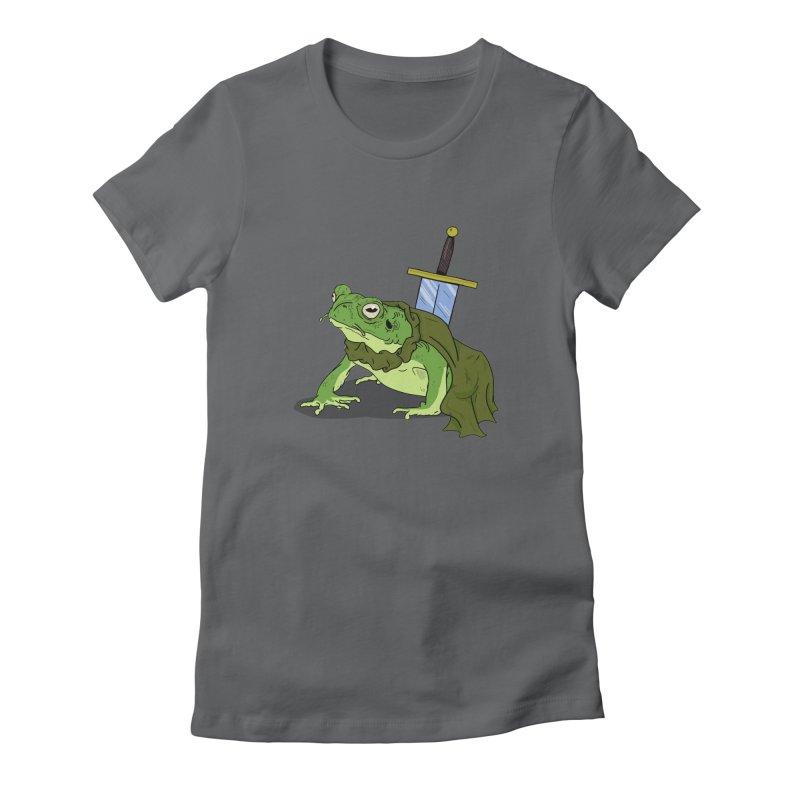Frog! Women's Fitted T-Shirt by derschwigg's Artist Shop