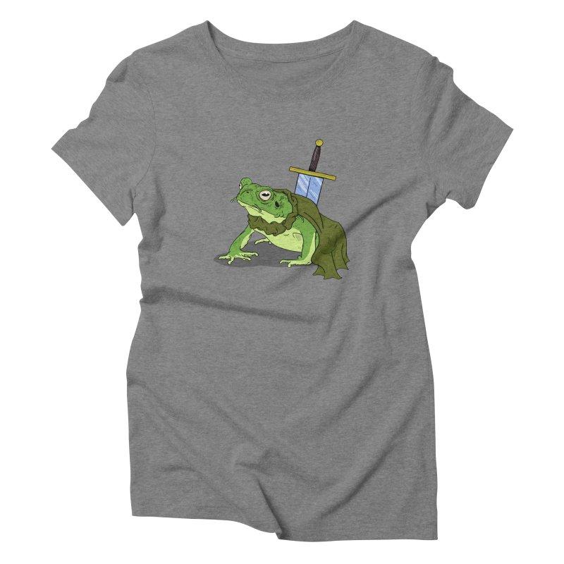 Frog! Women's Triblend T-Shirt by derschwigg's Artist Shop