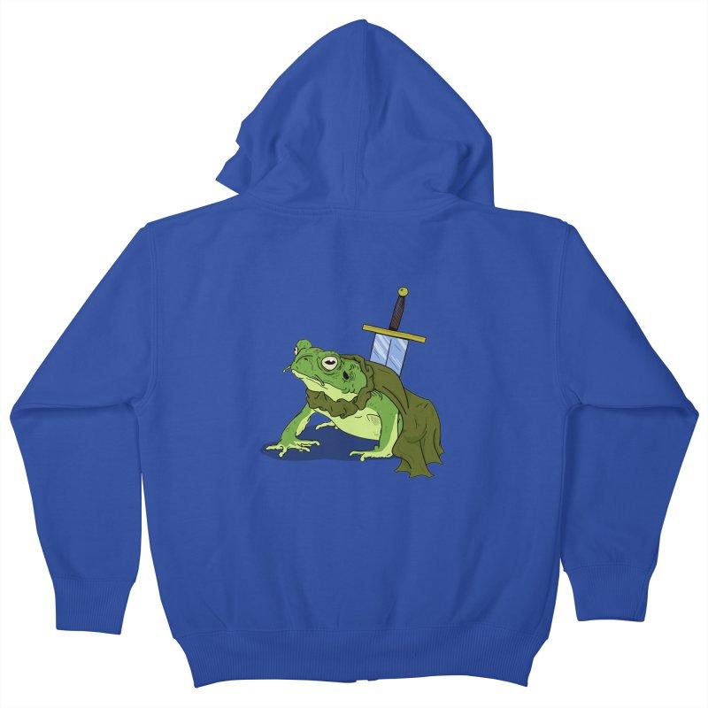 Frog! Kids Zip-Up Hoody by derschwigg's Artist Shop
