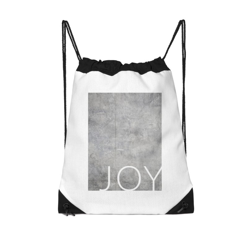 JOY // Concrete Foundation Accessories Drawstring Bag Bag by Desanka Spirit's Artist Shop