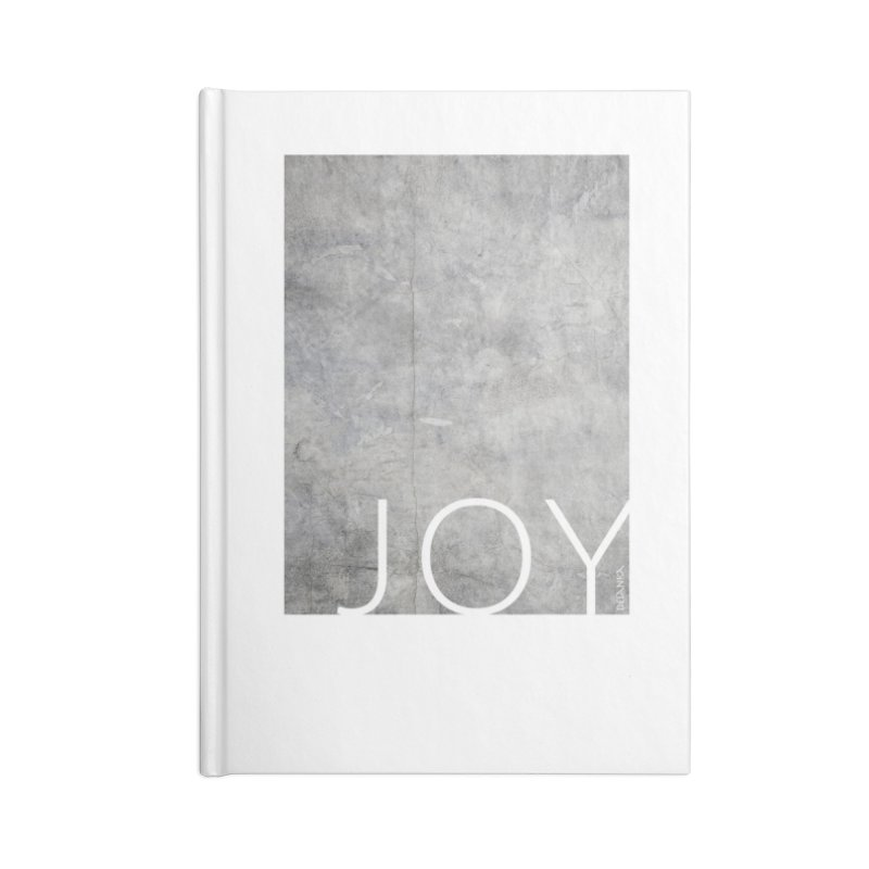 JOY // Concrete Foundation Accessories Blank Journal Notebook by Desanka Spirit's Artist Shop