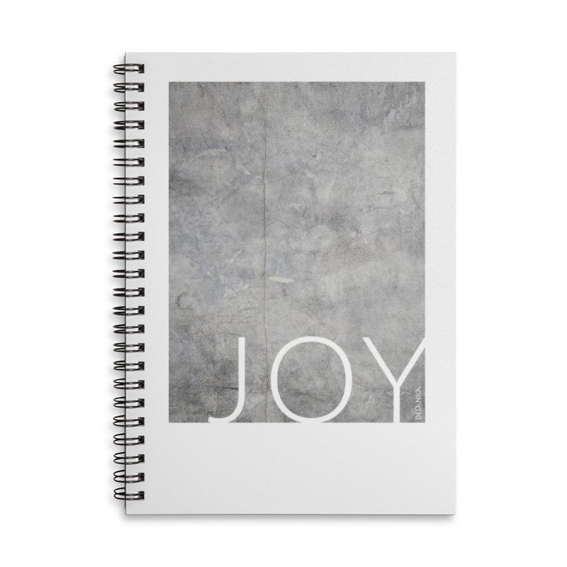 JOY // Concrete Foundation Accessories Lined Spiral Notebook by Desanka Spirit's Artist Shop